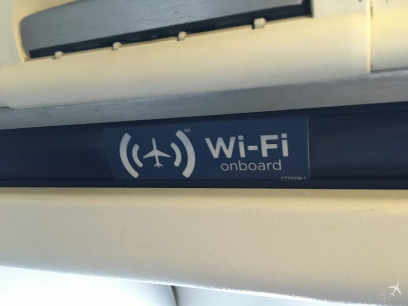 American Airlines Domestic First Class WiFi onboard