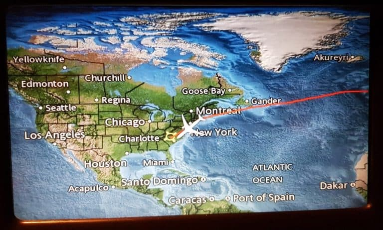 American Airlines Eco Moving Map