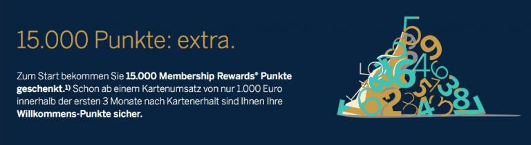 American Express Gold Card Willkommensbonus Membership Rewards Punkte