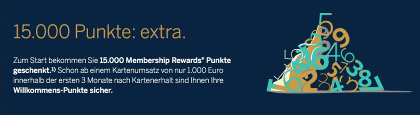 American Express Gold Card Willkommensbonus Membership Rewards Punkte