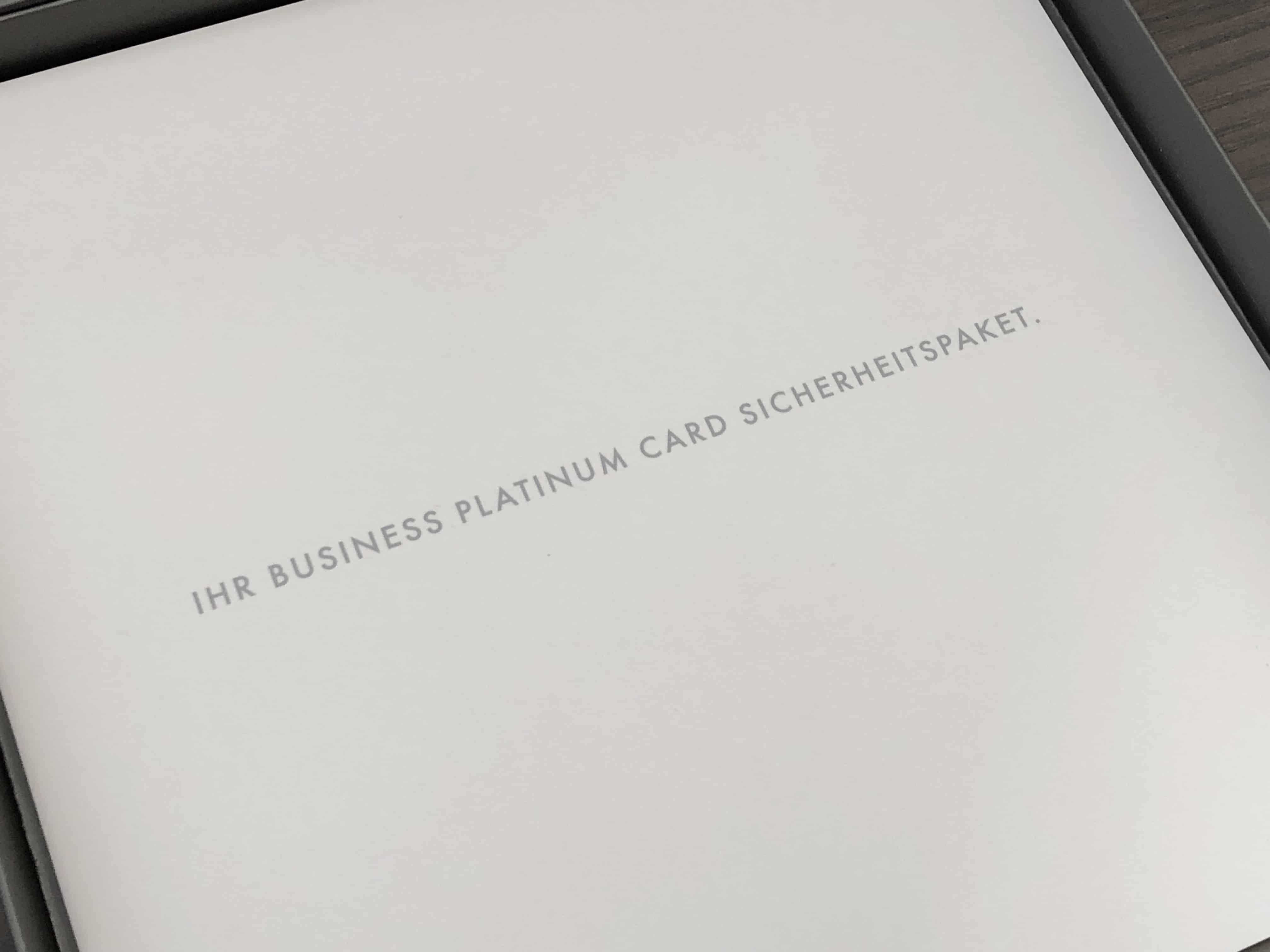 American Express Platinum Card Sicherheitspaket