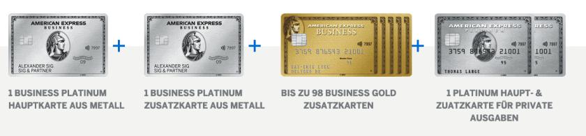 Amex Business Platinum Zusatzkarten