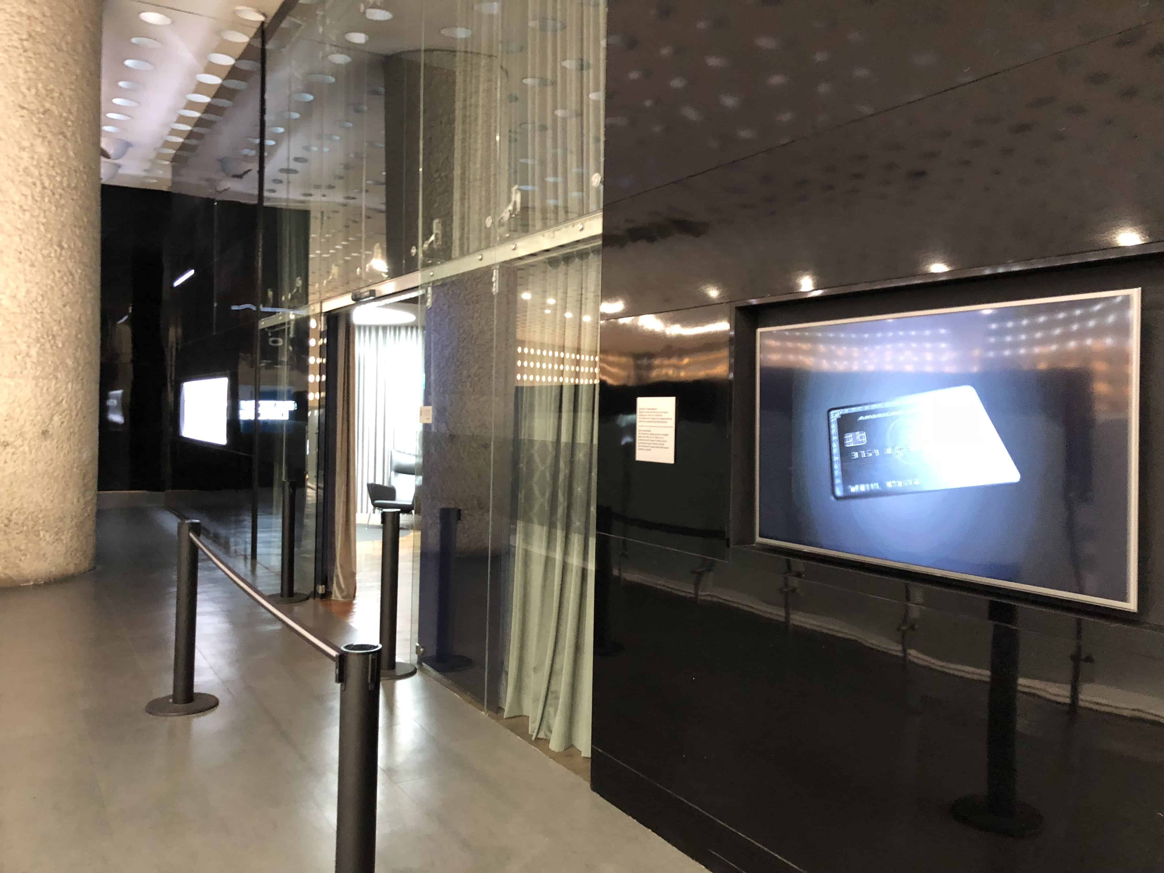 Amex Lounge MEX Eingang