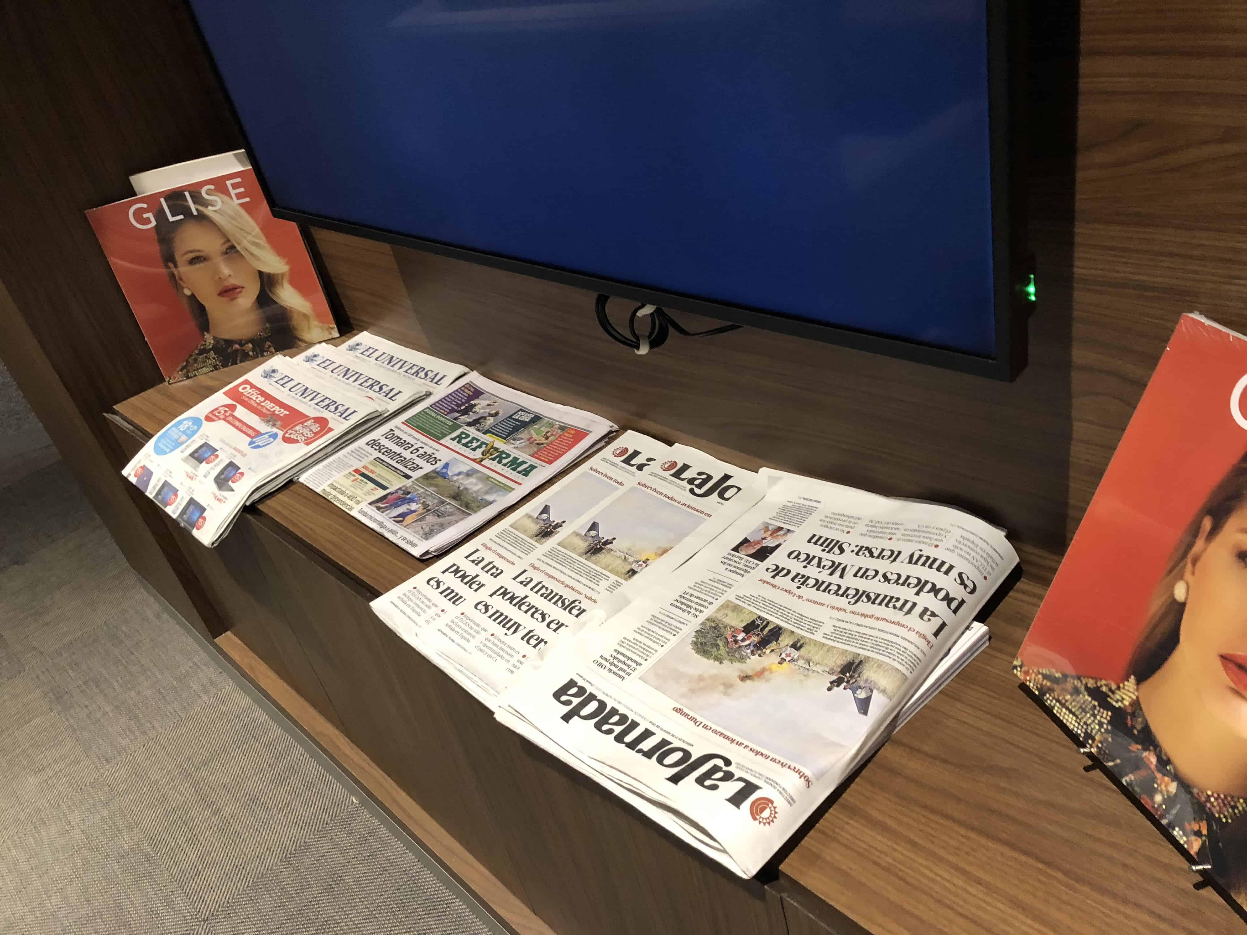 Amex Lounge MEX Zeitung