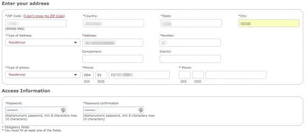 Avianca Brasil Amigo Registrierung 4