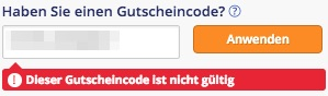Amoma Gutscheincode nicht gültig