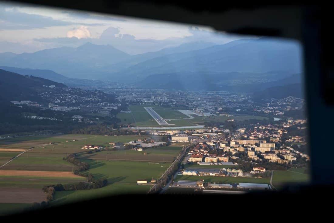 Anflug Innsbruck