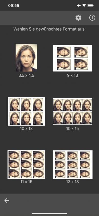 App Biometrisches Passbild Drucken