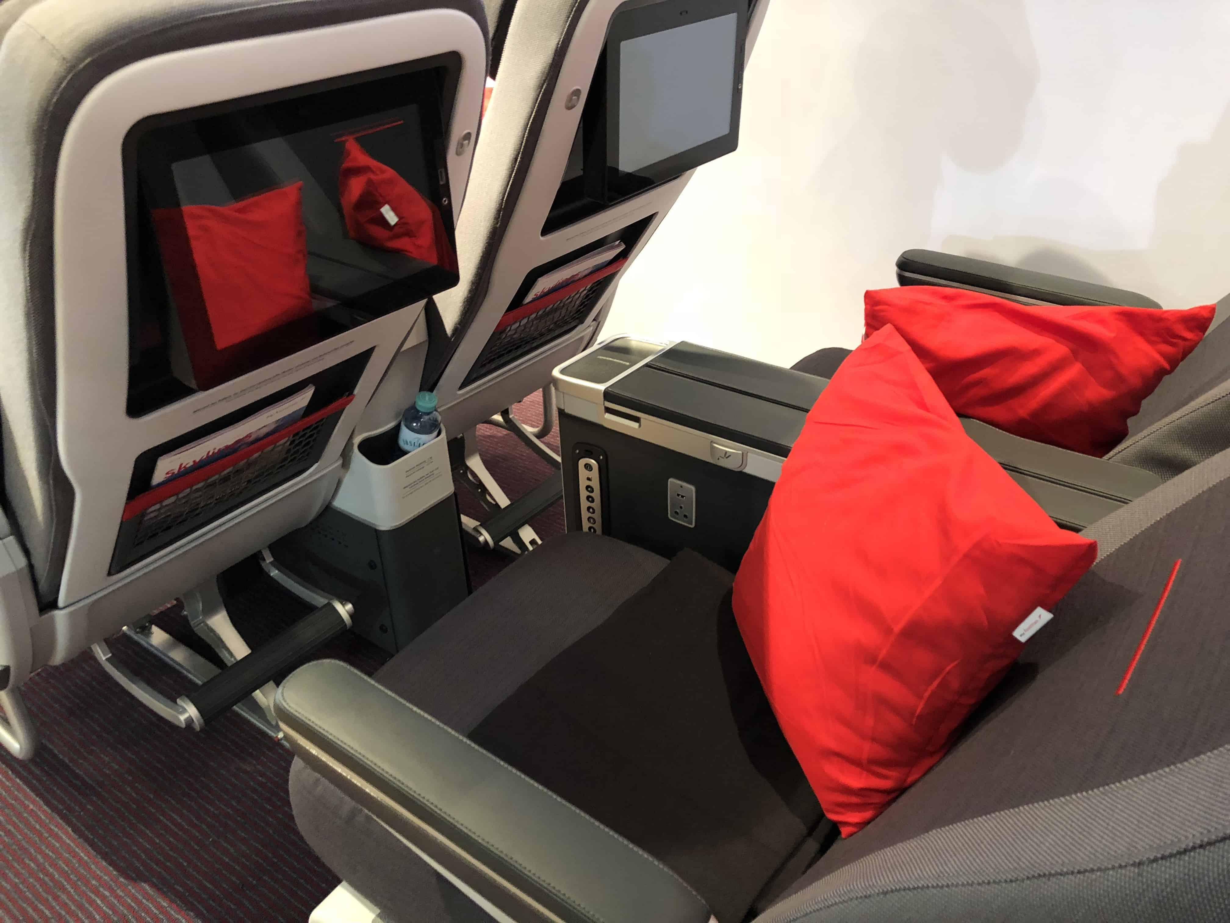Austrian Airlines Premium Economy Bildschirm