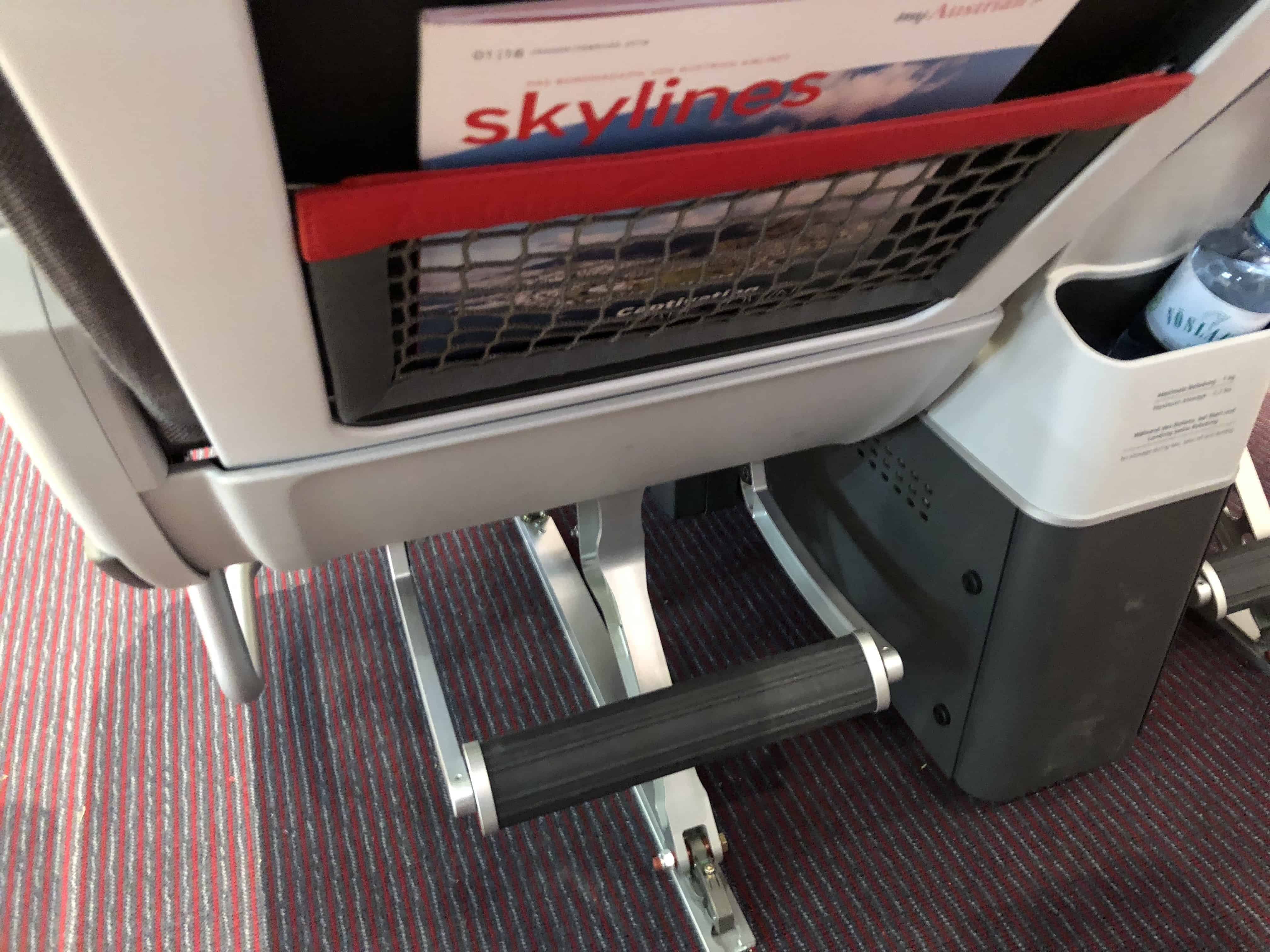 Austrian Airlines Premium Economy Fußstütze