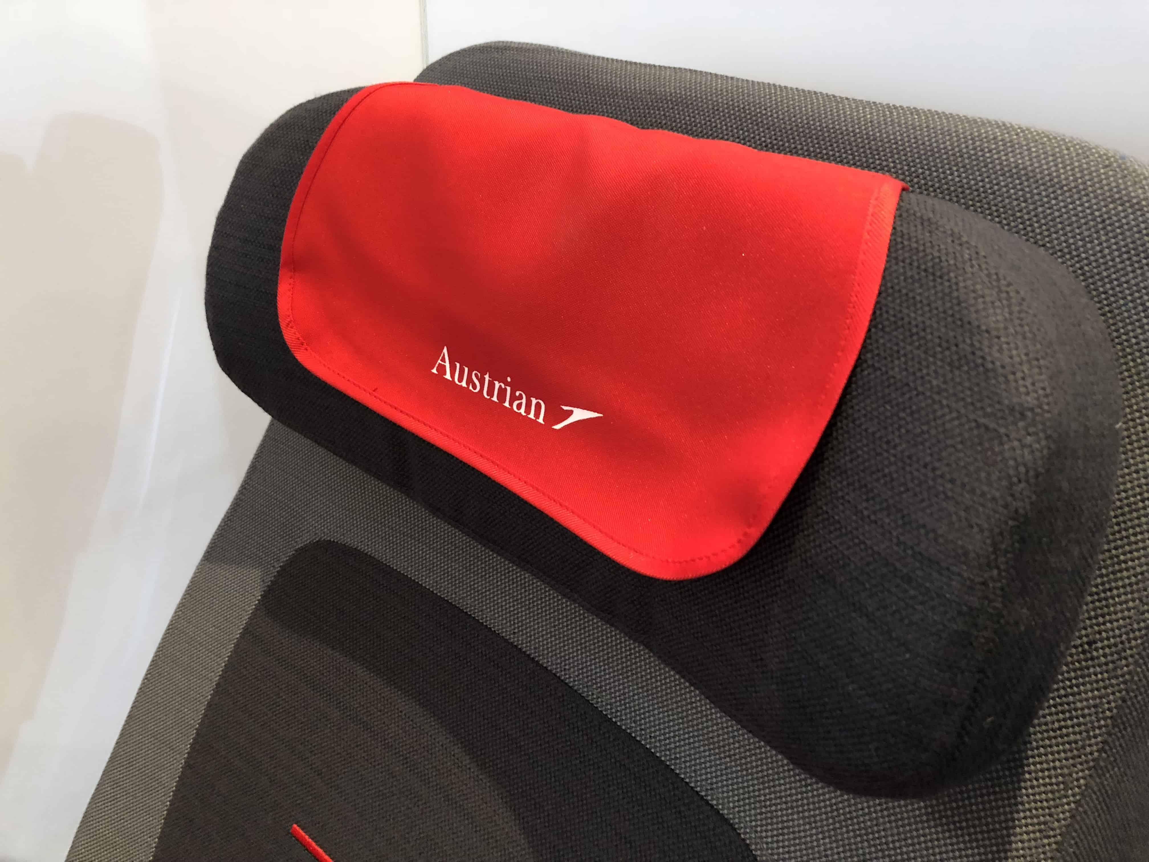 Austrian Airlines Premium Economy Kopfstütze