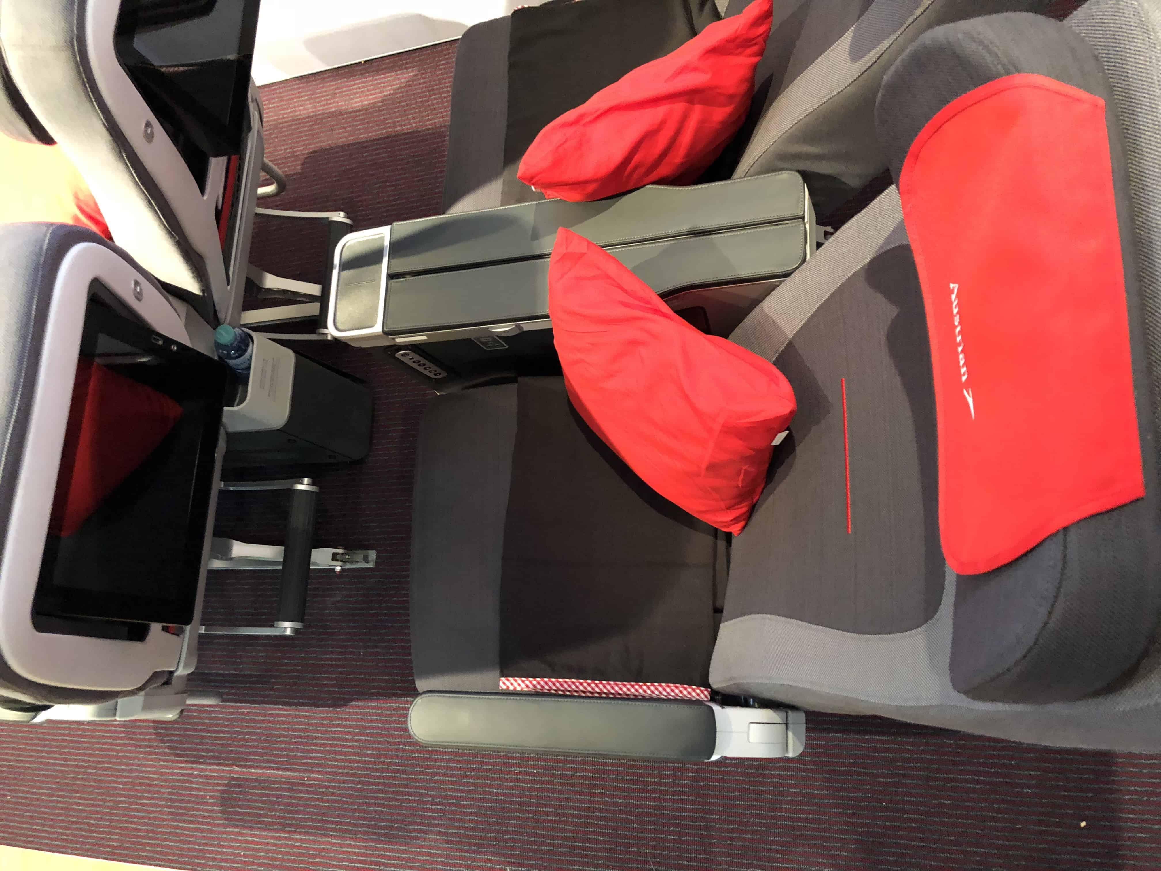 Austrian Airlines Premium Economy von oben