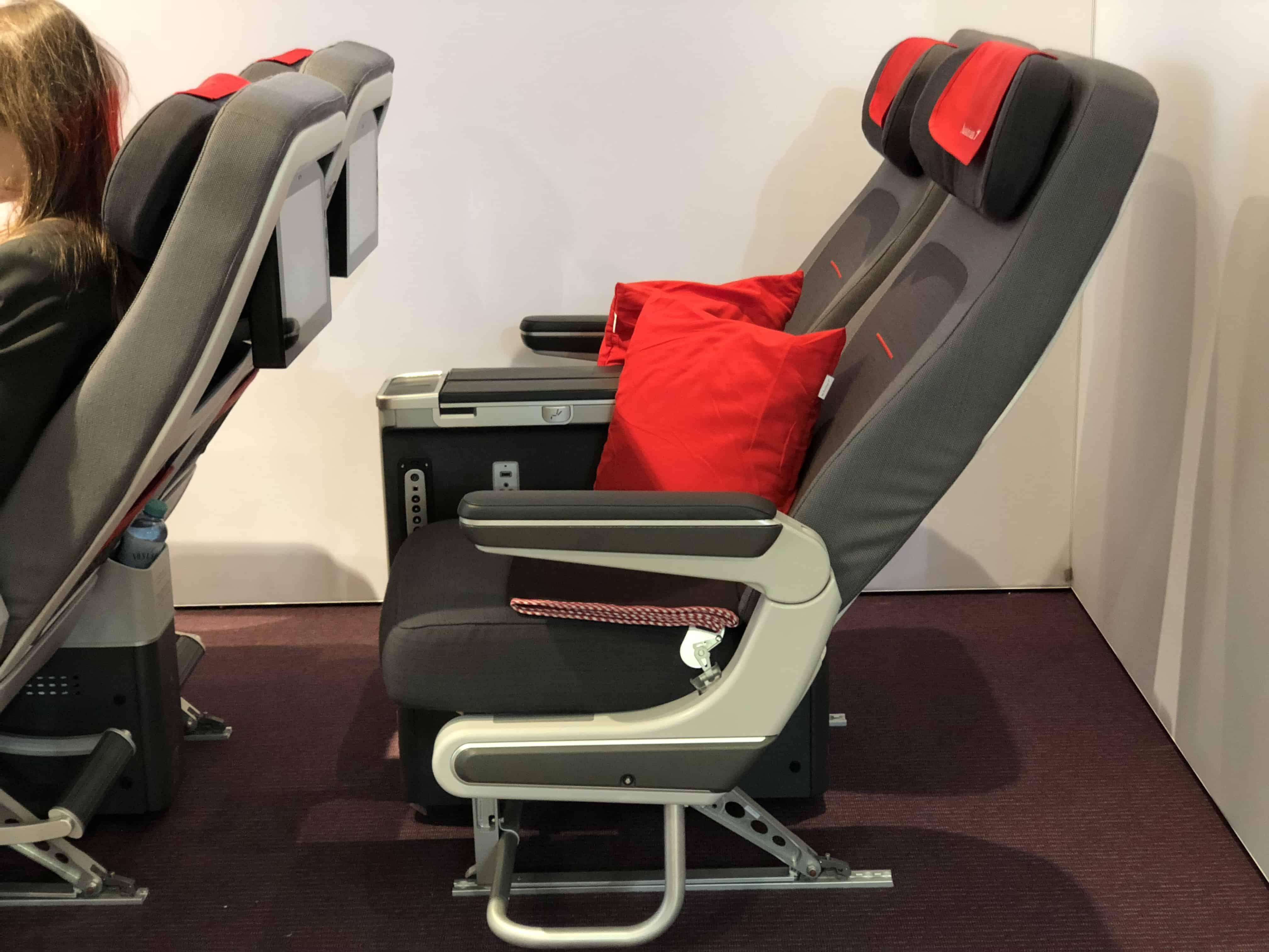 Austrian Airlines Premium Economy Sitzneigung