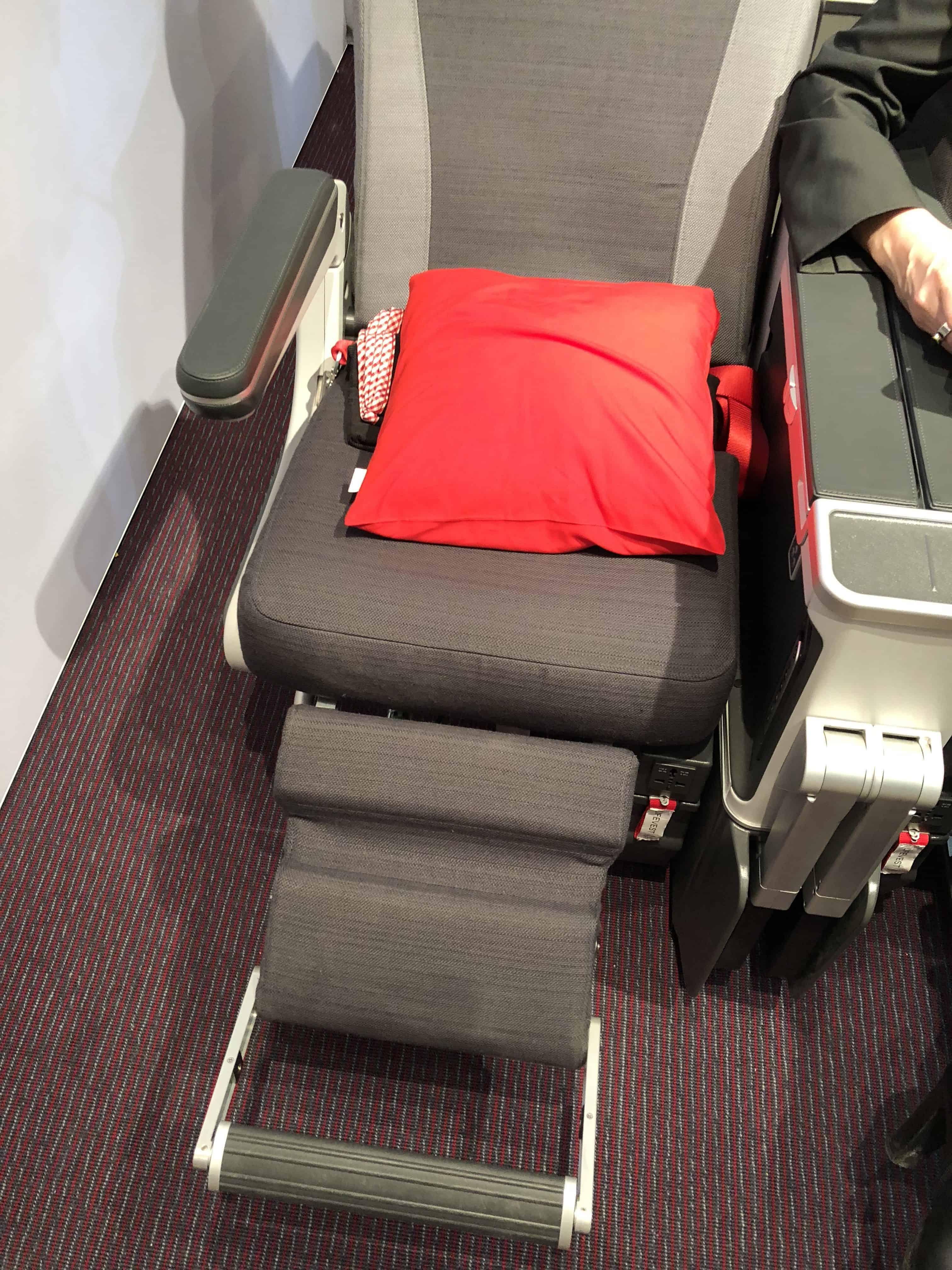 Austrian Airlines Premium Economy erste Reihe