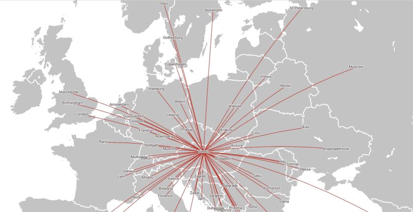 Austrian Flightpass Ziele