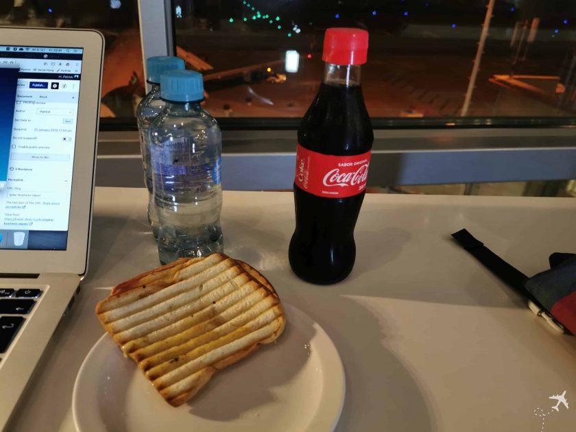 Avianca Diamond Lounge BOG Toast