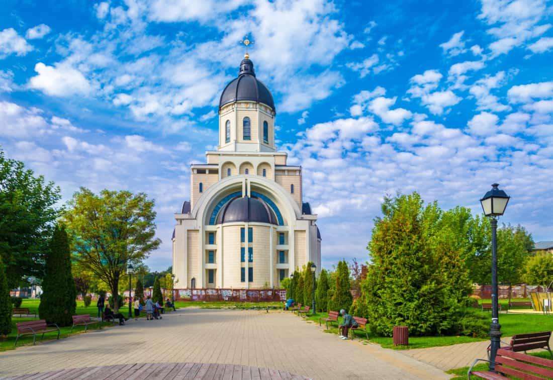 Kathedrale in Bacau, Rumänien