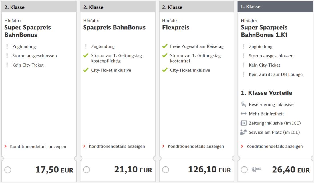 BahnBonus Sparpreis Augsburg
