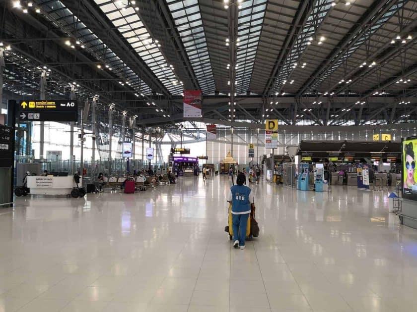 Bangkok airport empty
