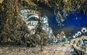 Belgrad Serbien Winter