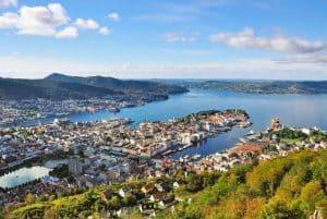 Sicht auf Bergen, Norwegen
