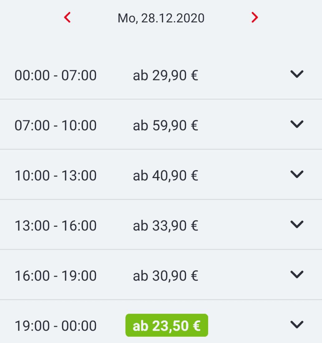 Bestpreissuche DB Navigator Uebersicht