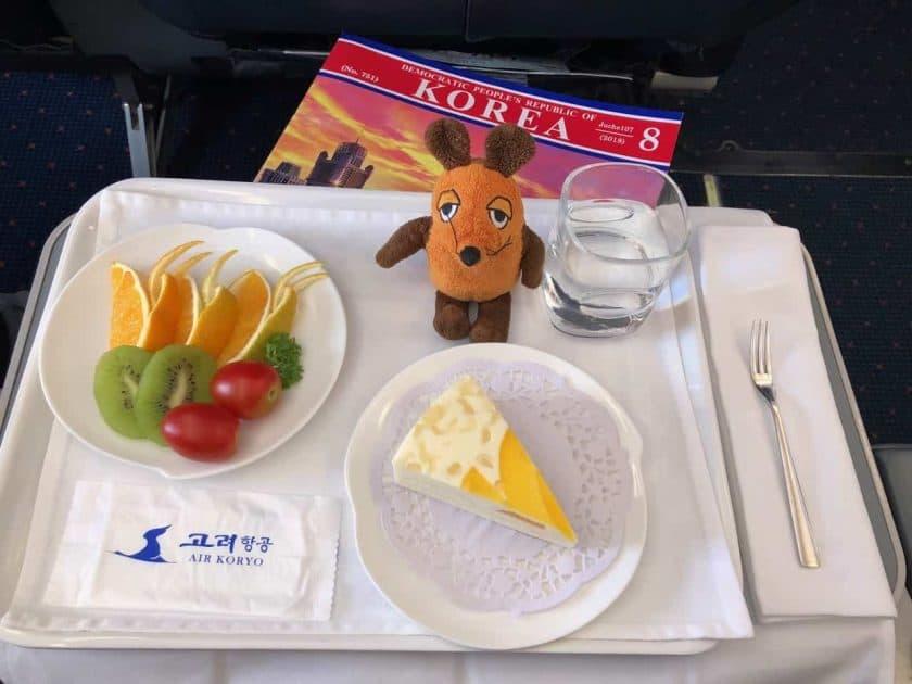 Bewertung Air Koryo Business Class Dessert