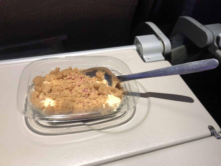 Bewertung Emirates Economy Dessert