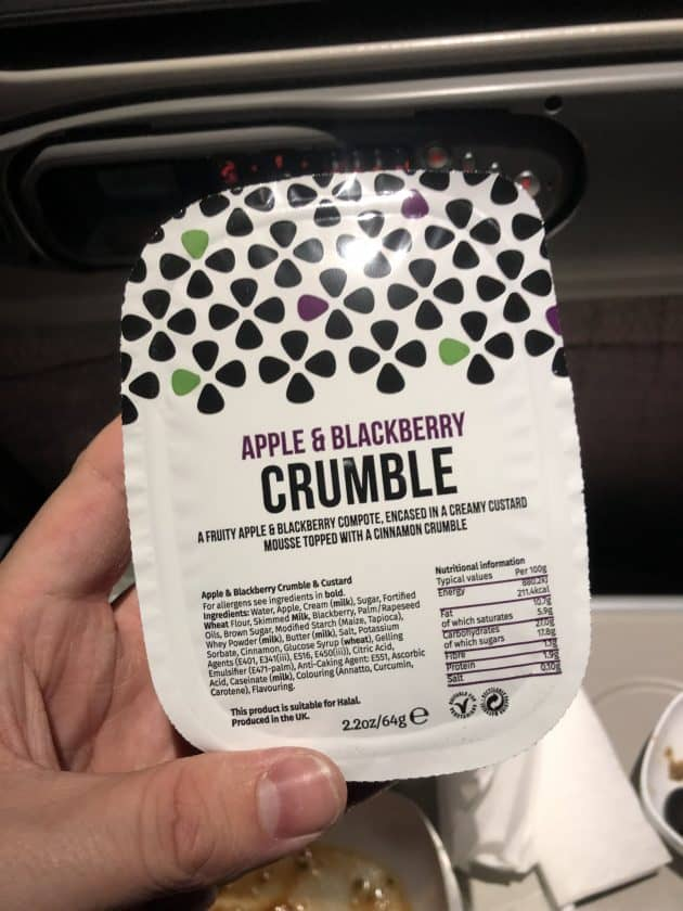 Bewertung Emirates Economy Dessert Verpackt