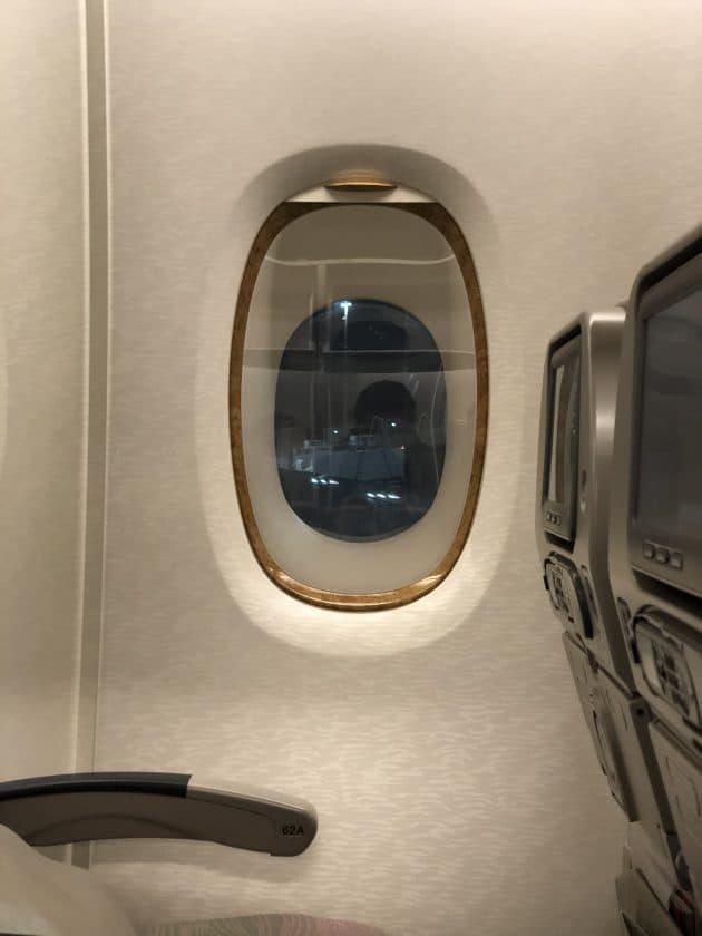 Bewertung Emirates Economy Fenster