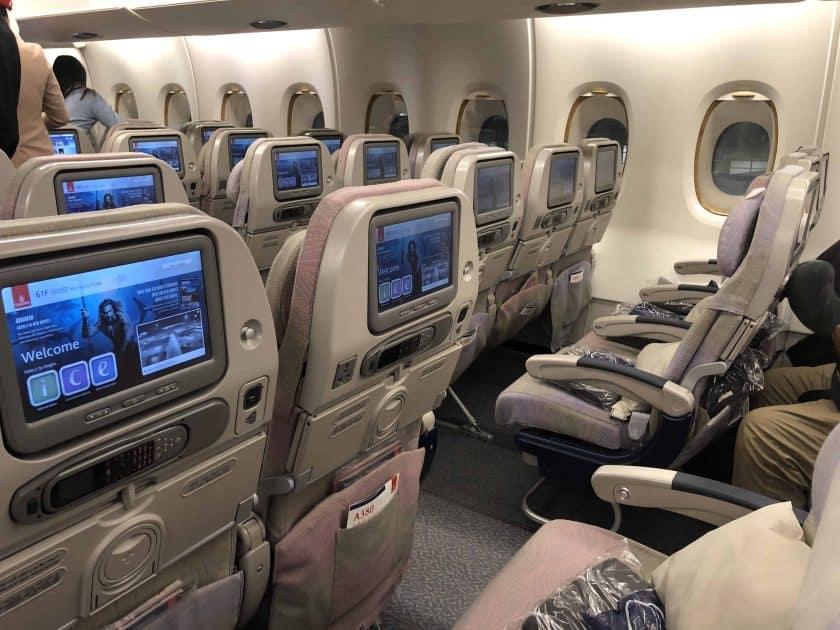 Bewertung Emirates Economy Kabinenprodukt