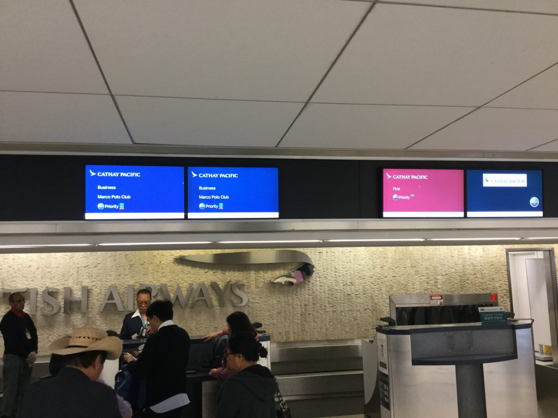 Cathay Pacific Business Class Check-In