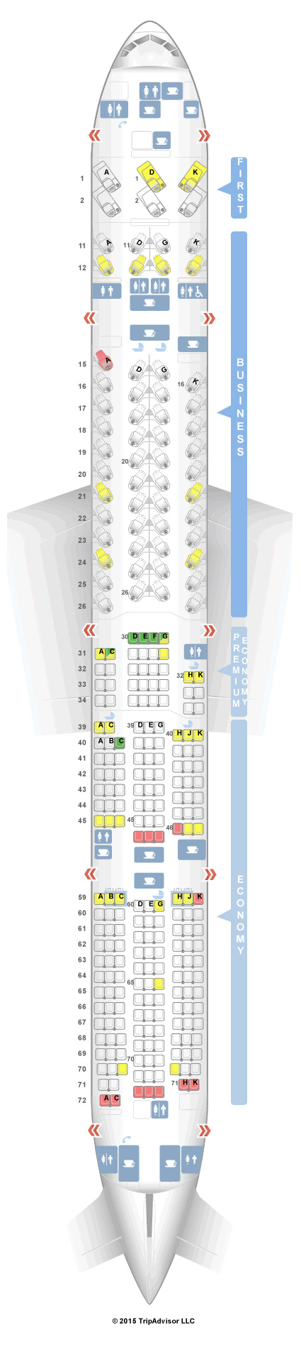 Cathay Pacific Business Class Sitz