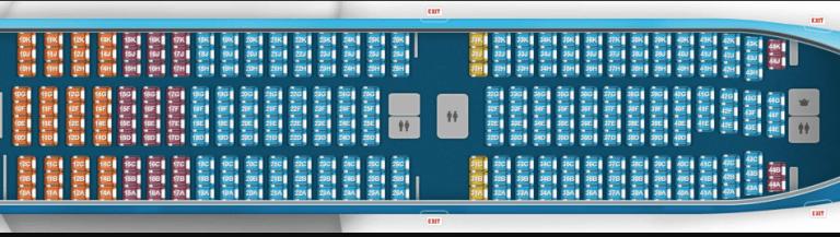 Boeing 777 Seat Map