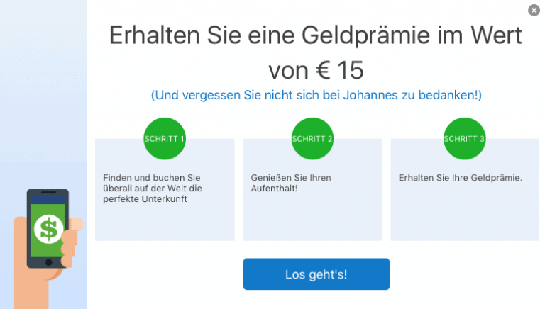 Booking.com Freundschaftswerbung