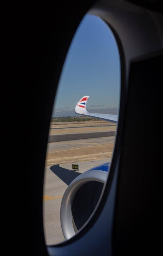 British Airways A350 Windowseat View