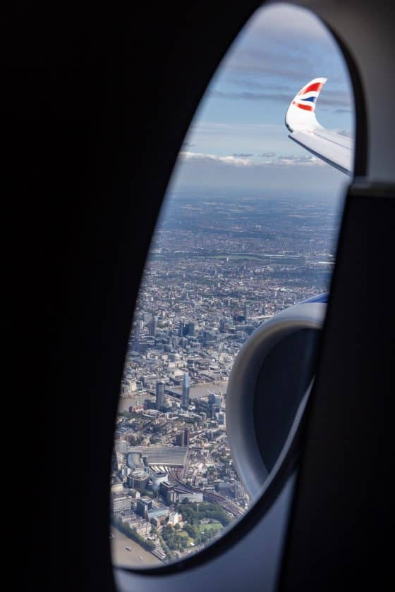 British Airways A350 Winglet Inflight