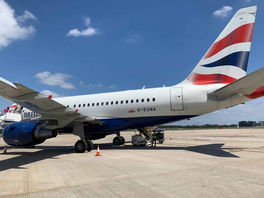 British Airways BA1 Airbus A318
