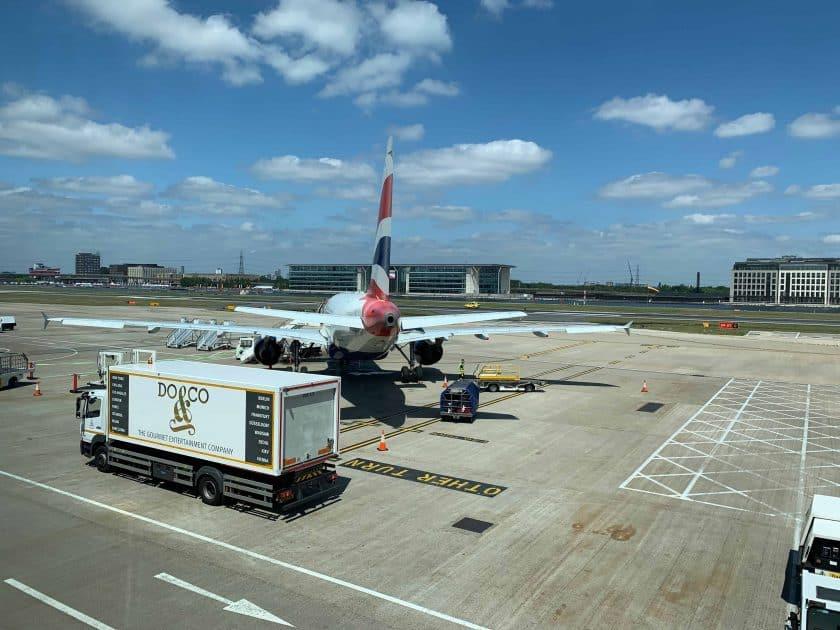 British Airways BA1 Beladung Do und Co