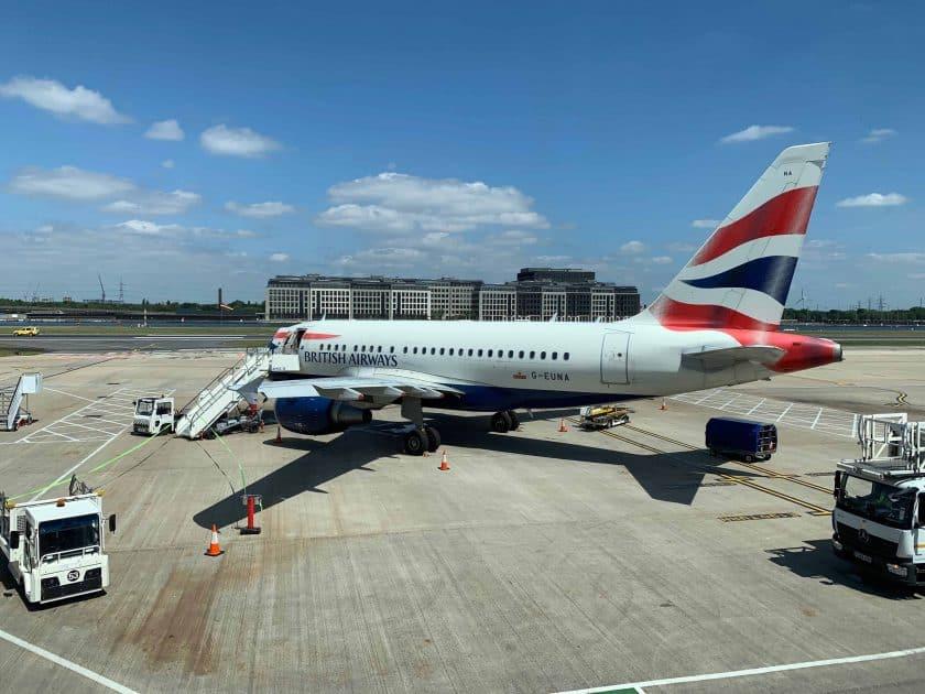British Airways BA1 Flugzeug