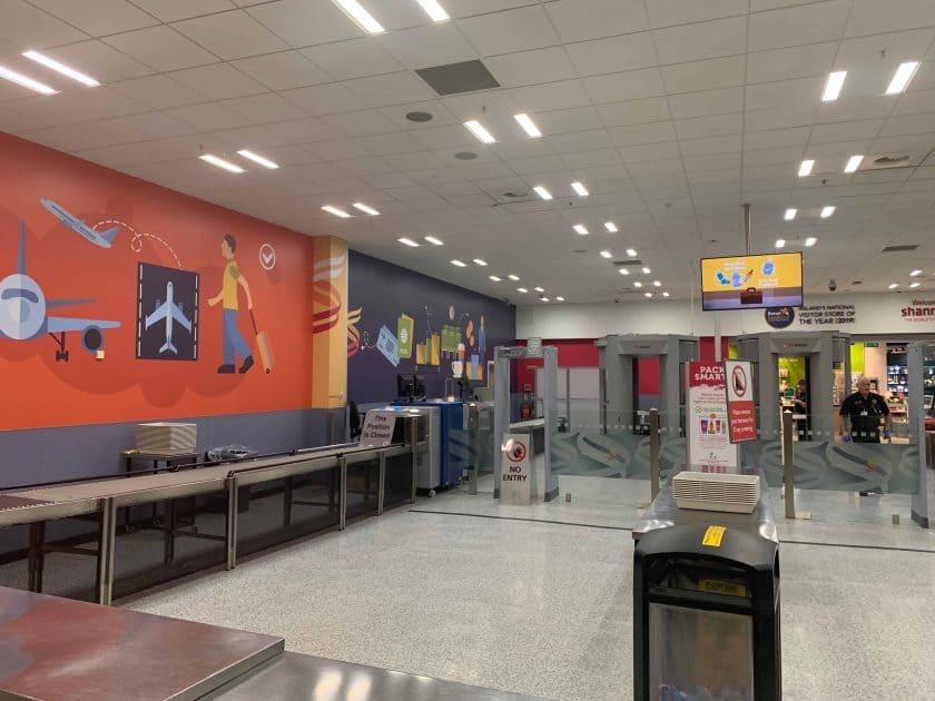 British Airways BA1 Sicheheitskontrolle Shannon
