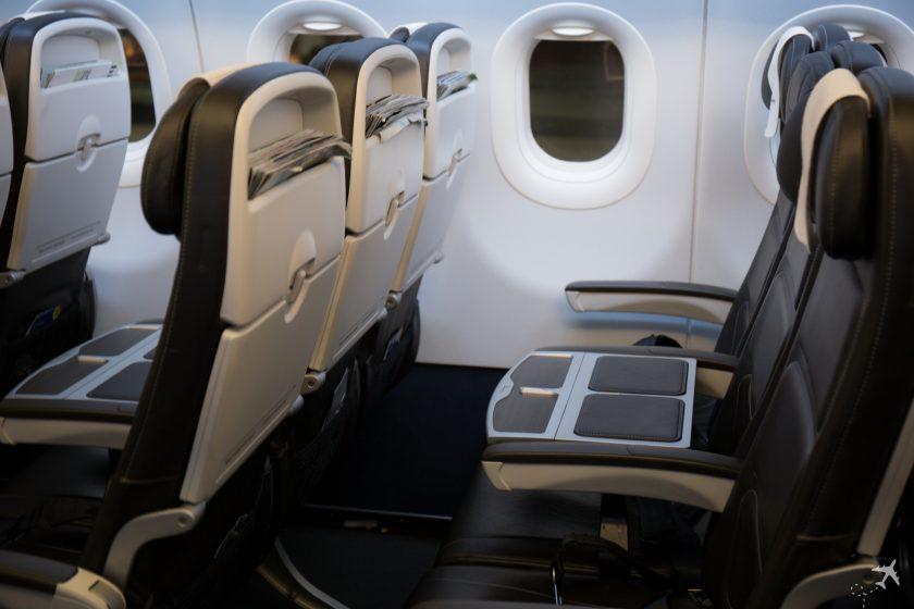 British Airways Club Europe Sitzreihe