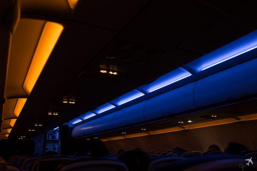 British Airways A320 Kabinenbeleuchtung