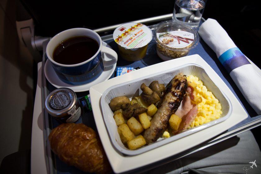 British Airways Club Europe Frühstück