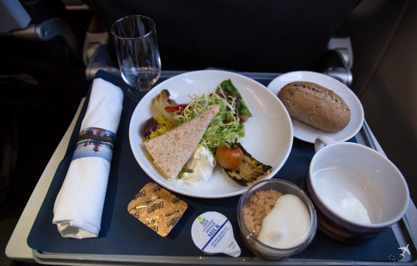 British Airways Club Europe Mittagessen