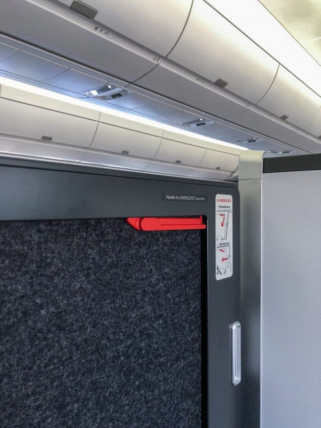 British Airways Club Suite Door