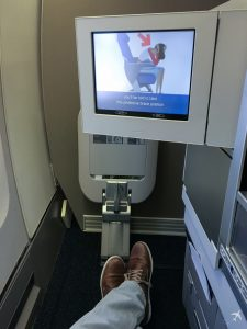 British Airways Club World Monitor