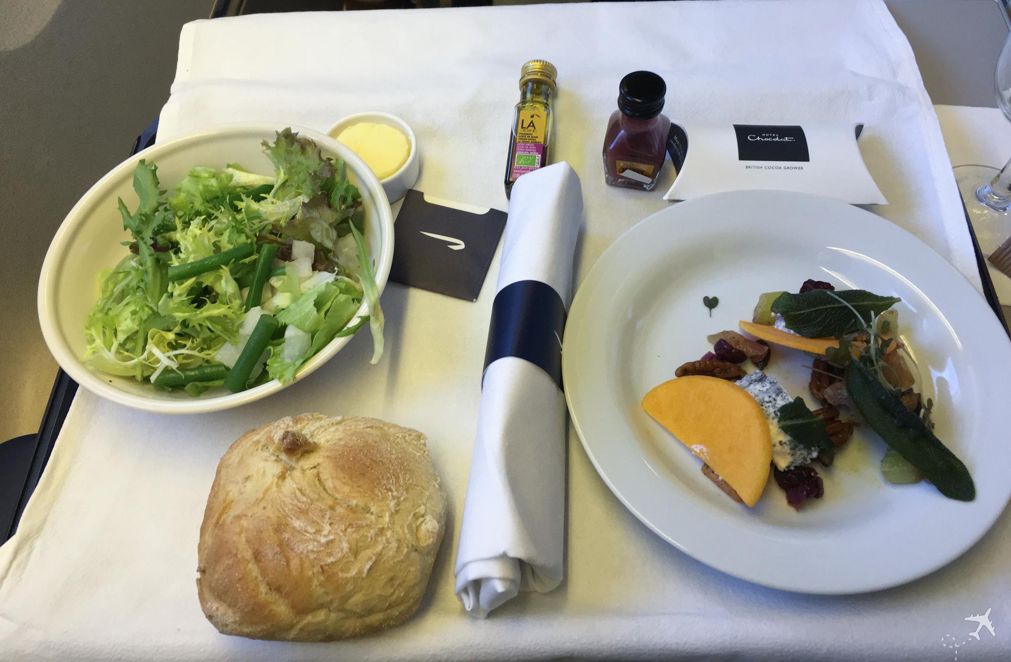 British Airways Club World Vorspeise