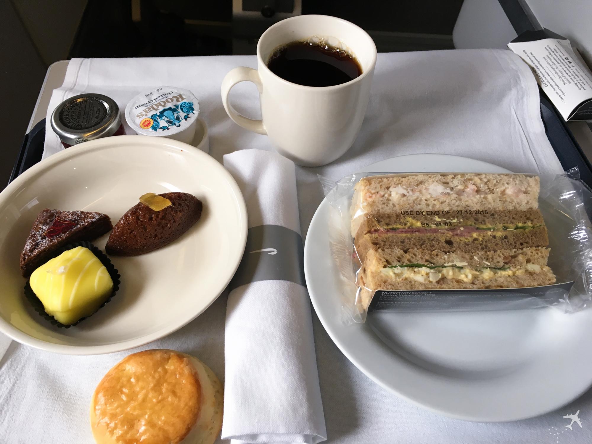 British Airways Club World Afternoon Tea
