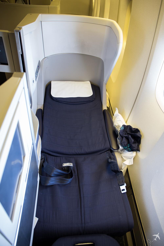 British Airways Club World Sitz Liegeposition